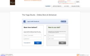 san jose The Yoga Studio Account Creation Screen